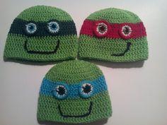 Ninja turtles gorro a crochet