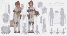 Space Character, Game Character Design, Character Design Animation, Character Sheet, Character Design References, Character Drawing, Character Design Inspiration, Character Concept, Character Ideas