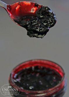 Haskap Maple Whiskey Jam. Substitute blueberries for the haskap berries.