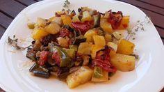 Λαχανικά στο φούρνο/μπριάμ Pork, Ethnic Recipes, Sweet, Kale Stir Fry, Candy, Pork Chops