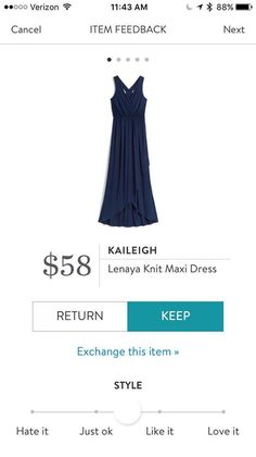 StitchFix 10/10/17 ... this isn't my fave navy maxi - the Gilli all-navy maxi is - but this may work, and love the price!
