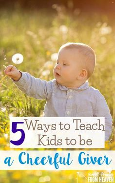 5 Ways to Teach Kids to be a Cheerful Giver in their schools and in their communities! Some kids love to give already, and other kids need a little coaxing!