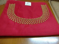 To customize, whatsapp 9043230015 for Saree, Blouse and Kurtis Churidhar Neck Designs, Dress Neck Designs, Kurti Neck Designs, Hand Designs, Embroidery On Clothes, Embroidery Works, Beaded Embroidery, Hand Embroidery, Simple Blouse Designs