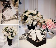 black white and rose