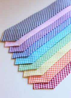 The Beau gingham collection neckties for by thebelleandthebea