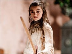 NERD ALERT: LOVE little Aria! The young actor that plays her is right handed and swordfights left handed to stay true to the books. What a little badass. Two more weeks til Game of Thrones is back...