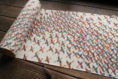 Chirimen Silk Bolt Vintage Japanese Kimono by KominkaFabricsJapan