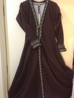 Viking Coat ~ Anglo Saxon - wool, card weaving and embroidery.