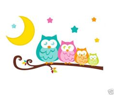 Owl-Tree-Wall-Decal-Branch-Mural-Woodland-Forest-Animal-Friends-Girl-Art-Sticker