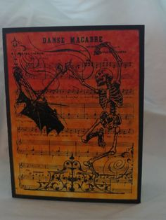Danse Macabre Halloween Card by PaperVelvetWood on Etsy, $3.25
