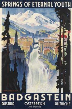 FRANZ LENHART (1898-1992). BAD GASTEIN. 1935. 37x23 inches, 94x60 cm. [Buchdr...