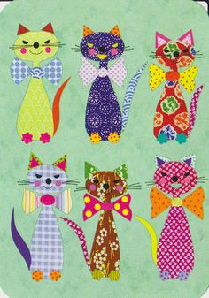 New Patchwork Baby Quilt Pattern Fabrics Ideas Cat Quilt Patterns, Applique Patterns, Applique Quilts, Cat Applique, Quilt Baby, Fabric Crafts, Sewing Crafts, Sewing Projects, Quilting