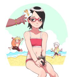Image in Boruto - Naruto next generation collection by Naho Sarada E Boruto, Sasuke Shippuden, Naruko Uzumaki, Sasuke Sakura Sarada, Naruto And Sasuke, Naruto Girls, Naruto Art, Old Cartoon Shows, Familia Anime