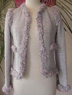 Chanel 2004 Fantasy Tweed Pastel Jacket