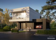Two storey house in modern style with usable area Minimum size of a plot needed for building a house is m. Balcony Doors, Two Storey House, Home Catalogue, Flat Roof, Types Of Houses, Interior Walls, Ground Floor, Second Floor, Home Projects