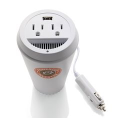 AC/USB outlet for your car, that fits neatly in your cupholder - I could take my hair straightener camping!