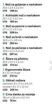 Tipos de cuchillos Croatian Language
