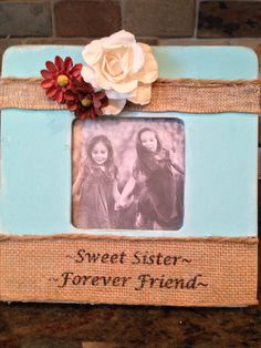 Hand Painted Picture Frame by LBCottageCreations on Etsy, $15.00