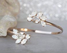 Items similar to Wedding Bracelet Rose Gold plated Bracelet Bridesmaid Bracelet Zirconia Bracelet Wedding Jewelry Bride Bracelet Bridal Jewelry Leaf on Etsy Swarovski Bracelet, Beaded Cuff Bracelet, Wedding Bracelet, Bridal Earrings, Wedding Jewelry, Wedding Rings, Gold Wedding, Sandals Wedding, Wedding Hairs