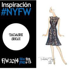 Aprecia este bosquejo de uno de los look de la colección F/W 2014 de Tadashi Shoji en #NYFW #YZAB #Moda #FW14