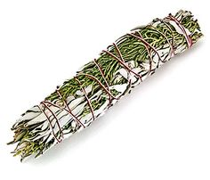 "Cedar and California white sage smudge stick Cedar is burned very good for cleansing but also offers protection. I recommend sage and cedar for those that wish to cleanse an area of item that has a very negative feel to it. This could be for ritual, divination, tool consecration or house blessing.  sage - removes negativity cedar - offers powerful protection and consecration A good choice for blessing a home or consecrating divination tools. approx 5"" long - instructions included"