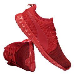 Tênis Puma Carson Runner Knit EEA Vermelho | Netshoes