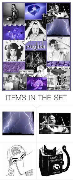 """""""my english binder cover!💜 -roxanne"""" by cousinsiconers ❤ liked on Polyvore featuring art"""