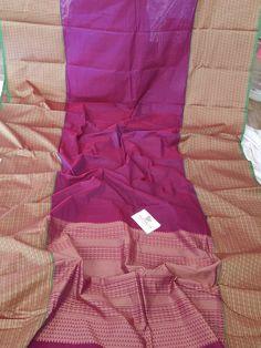 Magentacolour kanchi Cotton saree