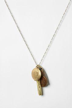 "Heirloom Pendant Necklace (2.5""l charm; 32""l chain; 2"" extender) $34"
