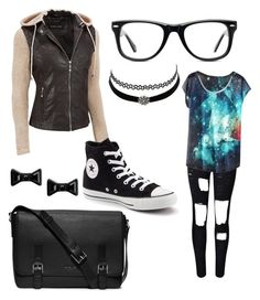 Titan High Day 1 of Junior Year by jaqueline-grace on Polyvore featuring polyvore, fashion, style, WithChic, Converse, Marc by Marc Jacobs, Muse, Michael Kors, Charlotte Russe and clothing