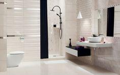 Jant / Łazienka / Ceramika-Domino.pl Bad Inspiration, Bathroom Inspiration, Bathroom Ideas, Purple Bathrooms, Double Vanity, Bathtub, Mirror, Architecture, Furniture