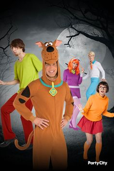 Ready to see who's behind the latest mystery? it might just be this collection of Scooby Doo costumes, which are the perfect fit for a group Halloween celebration. Scooby Doo Costumes, Spooky Costumes, Group Halloween, Halloween Party, Shaggy Costume, Witch Doctor Costume, Halloween Celebration, Group Costumes, Block Party