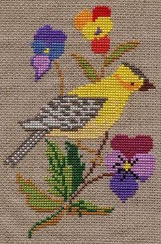 Vintage Pájaro de punto de cruz por gillyweed25, a través de Flickr: