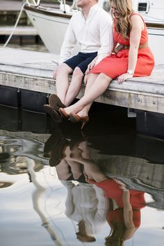 More adorable nautical engagement sessions... I love their outfits! Fine Art Engagement Pictures Maryland
