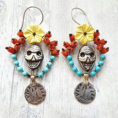 Frida Kahlo earrings by dinasbiju