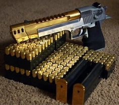 Two tone Desert Eagle .50 cal Find our speedloader now! http://www.amazon.com/shops/raeind