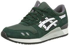 Asics Gel-lyte Iii, Unisex-Erwachsene Sneakers, Grün (dark Green/white 8001), 43.5 EU - http://on-line-kaufen.de/asics/43-5-eu-asics-gel-lyte-iii-unisex-erwachsene-7