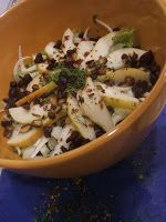 Fall pear and fennel salad - lettuce, join in the feast
