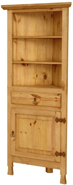 Santa Fe Corner Curio Cabinet Or Cupboard. Thinking About Staining Darker  And Installing It As A Built In In The Kitchen.