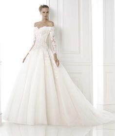 vestido de novia barcaza pronovias - Buscar con Google