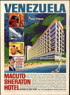 In this post, I curate over 100 vintage travel posters of Latin America — organized by country — with prints dating from the early to the Ladies and gentlemen, you won't want to miss this one! Travel Ads, Travel Images, Vintage Hotels, Vintage Ads, Hotel Ads, Latin America, South America, Central America, Frames