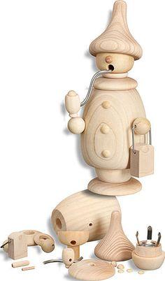 Handicraft set smoker figure (17cm/6.7in)ch by Seiffener Volkskunst