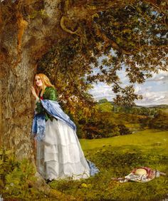 Beyond the lodge the city lies, Beneath its drift of smoke; And ah! with what delighted eyes I turn to yonder oak. ― The Talking Oak, by Alfred Tennyson. Artwork: Talking Oak, by William Maw Egley.