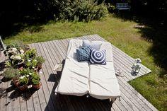 Relaxing outdoor deck.