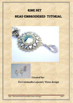 Tutorial Pattern Bead embroidery Beading pattern por Vicus