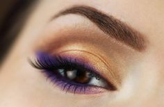 """Setting Sun"" by Alicia Marie using the Makeup Geek pigment Bewitched."