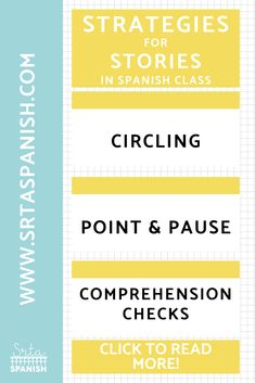 Strategies for Telling Stories in Spanish Class - SRTA Spanish Communicative Language Teaching, Foreign Language Teaching, Teaching Spanish, Language Proficiency, Spanish Teacher, High School French, Middle School Spanish, Elementary Spanish, Spanish Lesson Plans