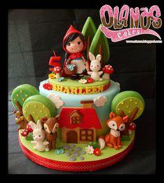 Baby first birthday cake boy sweets 16 ideas Baby First Birthday Cake, Red Riding Hood Party, Little Red Ridding Hood, Hello Kitty Birthday, Cakes For Boys, Girl Cakes, Cute Cakes, Fondant Cakes, Themed Cakes