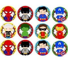 Cheap cupcake toppers, Buy Quality birthday party directly from China for birthday Suppliers: The Avengers Stickers, Superhero Cupcake Toppers,Birthday Party Decorations kids Sticker Label for Birthday,Baby Shower Baby Avengers, Avengers Birthday, Superhero Birthday Party, Cake Birthday, Marvel Baby Shower, Superhero Baby Shower, Chibi Superhero, Superhero Cake, Superhero Treats