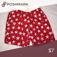 Swimming Trunks Trunks Surf & Swim Red and White Star Kids Swimming Trunks Swim Swim Trunks